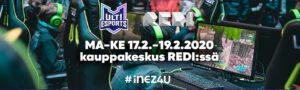 Peli-ja vaikuttajatapahtuma kauppakeskus Redissä hiihtolomalla.